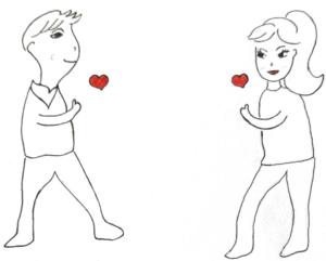 Liebe-Leidenschaft-Sehnsucht-Partner