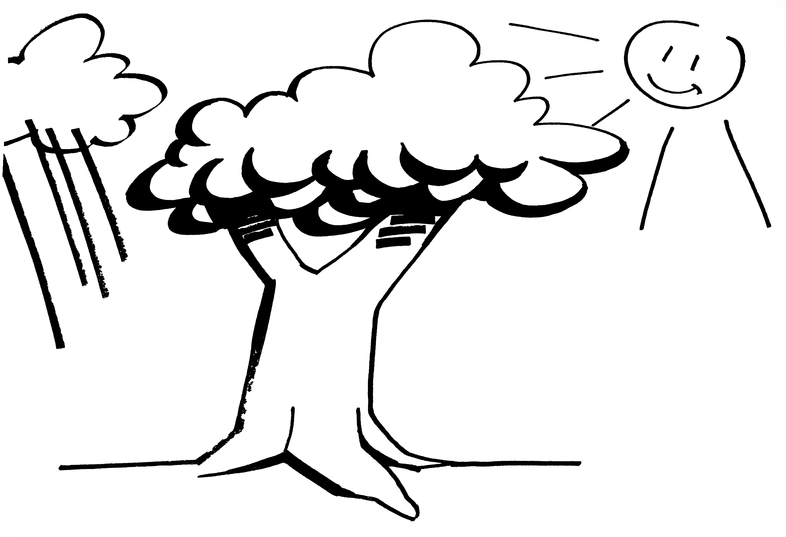 Corona-Stress-dicke Wurzeln